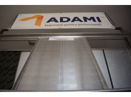 Tavă aluminiu perforat 60x40 cu 3 margini PAN ADAMI