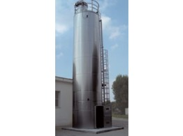 Monolithic silo in aluminium or stainless steel SBA-SBI