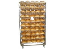 Carucior din inox pentru racirea pâinii • CIRPPA
