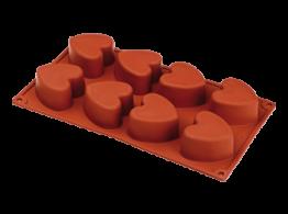 Forme silicon Inima cu 8 alveole